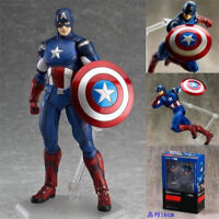 "6"" Figma Captain America Action Figure Movable Collection Toy New in Box"
