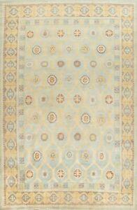 Muted Khotan Geometric Oriental Area Rug Vegetable Dye Hand-knotted Wool 10'x14'