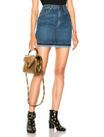 RAG & BONE New York Jean $225 Dive Fringe Denim Jean Mini Skirt Size 28