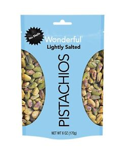 Wonderful Pistachios, No Shells, Lightly Salted, 6 Ounce Resealable Pouch