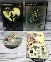 Kingdom Hearts 1 & 2 (Sony Playstation 2, PS2) Black Label Tested & Working