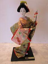 Vintage Japanese Geisha Doll Kyugetsu Yamaha Blossom Branch Gofun face glass eye