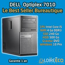 PC SSD i5 - DELL Optiplex 7010 - Core i5 - 4Go - SSD 240Go + HDD 500Go - W10 Pro