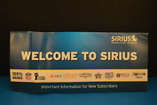 """WELCOME TO SIRIUS""  Pamphlet - Brochure   SATELLITE RADIO   CAR or HOME"