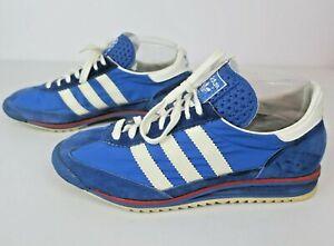 adidas SL-72 1970s Vintage Sneakers Made in Westdeutschland Color Blue Mens 6.5
