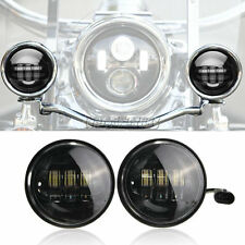 """2x 4-1/2"""" LED Auxiliary Fog Passing Lights Fit Harley Street Glide FLHX Touring"""