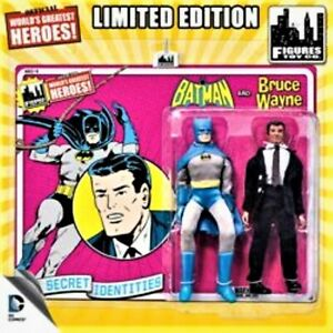 "DC Comics Secret Identities Batman And Bruce Wayne Retro 8"" Figures"