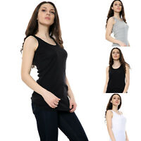 Pack of 2 Vest Stretch Casual Active Gym Workout Wear Tank Top Jersey Women