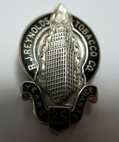 Vintage Sterling R. J. Reynolds Tobacco Co. 25 Years of Service Pin