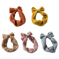 Soft Kids Girls Baby Toddler Infant Headband Hair Band Bow Knot Headwrap Turban