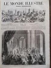 LE MONDE ILLUSTRE1858 N 65 INAUGURATION DU MONUMENT DE LA REINE HORTENSE A RUEIL