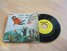"7"" Single Onkel Poppoff kann auf Bäume fliegen Hörspiel  Vinyl Philips 760028"