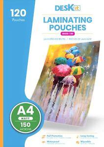 Deskit A4 Laminating Pouches – Matt – 120 Sheets – 150 Microns