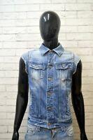 G-STAR Giacca Uomo Smanicato Cotone in Jeans Taglia M Jacket Man Cappotto Blu