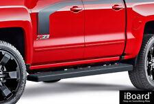 "iBoard Running Boards 5"" Black Fit 07-18 Chevy Silverado GMC Sierra Crew Cab"