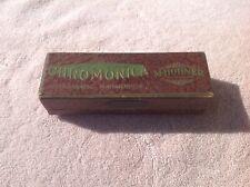 ANTIQUE/VINTAGE/OLD M. HOHNER CHROMONICA CHROMATIC HARMONICA W/ORIGINAL CASE