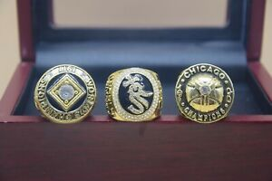 3 Pcs 1906 1917 2005 Chicago White Sox Championship Ring //