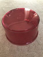 Vintage Red Beacon Dome Lens Police Fire for Rotating Light Federal F3