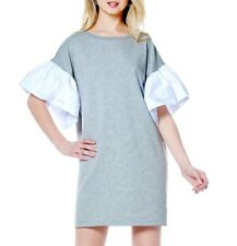Gracia Puff sleeve detail jersey Dress  Size L / Gray