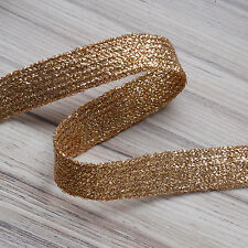 "GLITZY GOLD BRAID LUREX - 25 MM (1"") WIDE X 5 METRES ***"
