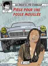 """""""Piège pour une poule mouillée"""" dessin numérique. MG B GT style BD par JICEHER"""