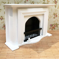 MagiDeal 1/12 Dollhouse Miniature Wood Fireplace Model Furniture Room Items