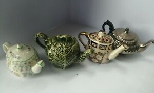 4 Royal Doulton (Cardew Design) Miniature teapot ornaments