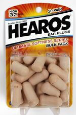 NEW | Hearos 2525 - Foam Ear Plugs - Ultimate Softness - 20 Pair | FREE SHIPPING