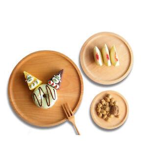 Coffee Mat Drink Mat Wooden Plate Dinner Dessert Fruits Salad Bread Plate