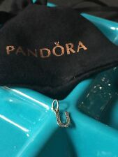 Genuine Pandora Charm Sterling Silver Alphabet Dangle Letter U 791333CZ