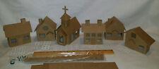 Putz Style Cardboard Houses- Village Houses Set of 6