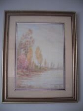 Vintage Stuart Taylor Signed Gilt Framed & Glazed Print Of Woodland Scene