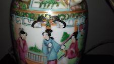 Alte Chinesische Porzellan Lampe famille rose  chinese lamp