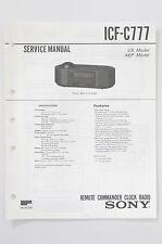 SONY ICF-C777 Original Clock Radio Service-Manual/Anleitung/Schaltplan! o74