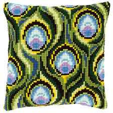 Vervaco Cross Stitch Cushion Kit: PN-0145969 Peacock Feathers