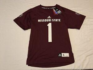 NWT's Missouri State Bears NCAA Adidas Maroon #1 Football Replica Jersey Size S