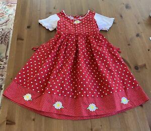 Blueberi Boulevard Girls Sz 6 Approx Red & White Floral Dot Dress