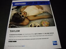 TAYLOR SWIFT kickin' back with candy & dark glasses 2015 PROMO POSTER AD mint c.