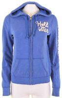 HOLLISTER Womens Hoodie Sweater Size 14 Large Blue Cotton  JU02