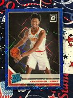 CAM REDDISH 2019-20 DONRUSS OPTIC RATED ROOKIE (BLUE PRIZM) HAWKS STAR ROOKIE