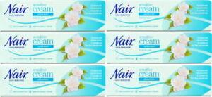 6 x Nair Sensitive Hair Removal Cream - 80ml