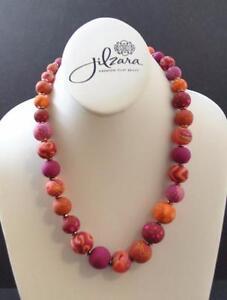 Jilzara Morocco Elastic Medium Keepsake Necklace Polymer Clay Beads Handmade GY4