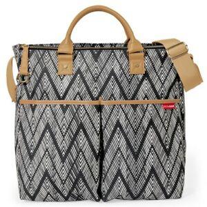 Skip Hop Duo Essential Diaper Bag: Special Luxe Edition Zig Zag Zebra