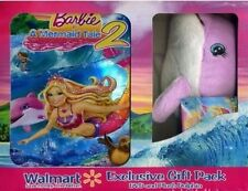 BARBIE IN A MERMAID TALE 2 New DVD Limited Time Plush Dolphin Gift Set
