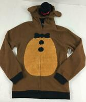 Five Nights At Freddy's Jacket Boys Large Costume NWT Hood With 3D Hat Ears Zip