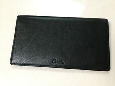 NWOT Coach leather checkbook cover holder wallet black