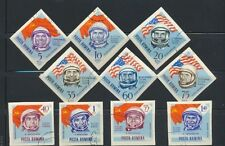 Romania Cosmonauts Triangle Set of 10 Imperforate Cancelled Stamps C151-C160