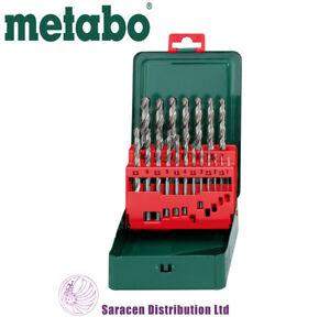 METABO HSS-G 19 PIECE DRILL BIT SET IN METAL CASE - 627153000