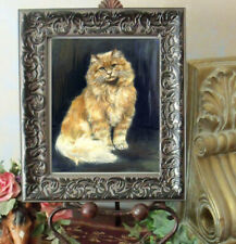 After Christmas Sale Long Hair Golden Tabby Cat Print Sanborn Style Framed