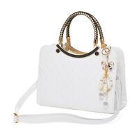 Womens Large Emboss Leather Style Shopper Tote Hobo Shoulder Bag Ladies Handbag